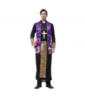 ハロウィン仮装 コスチューム コスプレ 宣教師 Mサイズ 4点セット ワンピース+ネックレス+スカーフ+ウエストバンド(道具含まず) hw0025-14