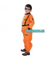 ハロウィン仮装 宇宙飛行士 コスプレ 子供用 Mサイズ 2点セット ジャンプスーツ+シートベルト hw0036-1