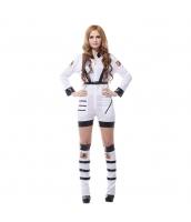 ハロウィン仮装 宇宙飛行士 コスプレ Mサイズ 2点セット ジャンプスーツ+シートベルト hw0036-13
