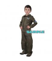 ハロウィン仮装 空軍 パイロット コスプレ 子供用 Mサイズ ジャンプスーツ hw0036-17
