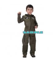 ハロウィン仮装 空軍 パイロット コスプレ 子供用 Lサイズ ジャンプスーツ hw0036-18