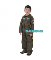 ハロウィン仮装 空軍 パイロット コスプレ 子供用 XLサイズ ジャンプスーツ hw0036-19