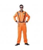 ハロウィン仮装 宇宙飛行士 コスプレ XLサイズ 2点セット ジャンプスーツ+シートベルト hw0036-4