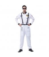 ハロウィン仮装 宇宙飛行士 コスプレ Lサイズ 2点セット ジャンプスーツ+シートベルト hw0036-8