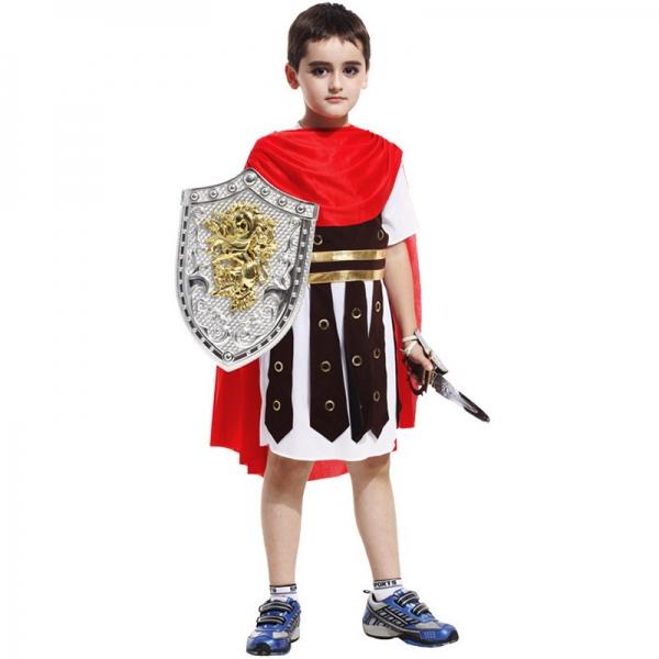 ハロウィン仮装 スチューム コスプレ 古代ローマ 子供スパルタクス 2点セット ワンピース+マント(道具別売) hw0039-8