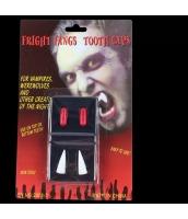 ハロウィン 仮装 コスプレ小道具 バンパイア 血カプセルx2+牙x2 hw0052-7