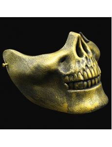 【即納】ハロウィン仮装 ゴールド髑髏マスク コスプレ tk-hw0057-1-gd【カラー:画像参照】【サイズ:フリー】