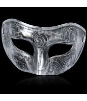 ハロウィン仮装 コスプレ小道具 シルバーマスク hw0057-13