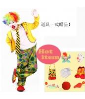 ハロウィン仮装 大道芸人シリーズ ピエロウィッグ コスプレ道具 hw0059-12