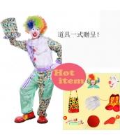 ハロウィン仮装 大道芸人シリーズ ピエロマスク コスプレ道具 hw0059-14
