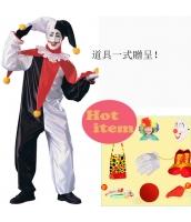 ハロウィン仮装 大道芸人シリーズ ピエロフードマスク コスプレ道具 hw0059-15