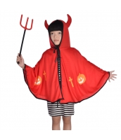 ハロウィン仮装 コスチューム 大人/子供共通 悪魔 2点セット マント+熊手 hw0075-2