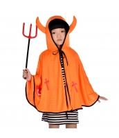 ハロウィン仮装 コスチューム 大人/子供共通 悪魔 2点セット マント+熊手 hw0075-6