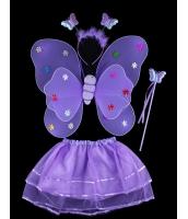 ハロウィン仮装 子供エンジェル コスチューム コスプレ 4点セット ウィング+カチューシャ+棒+ペチコート hw0091-14