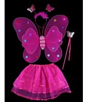 ハロウィン仮装 子供エンジェル コスチューム コスプレ 4点セット ウィング+カチューシャ+棒+ペチコート hw0091-21