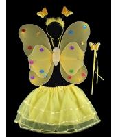ハロウィン仮装 子供エンジェル コスチューム コスプレ 4点セット ウィング+カチューシャ+棒+ペチコート hw0091-22