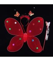 ハロウィン仮装 子供エンジェル コスチューム コスプレ 3点セット ウィング+カチューシャ+棒 hw0091-4