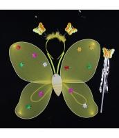 ハロウィン仮装 子供エンジェル コスチューム コスプレ 3点セット ウィング+カチューシャ+棒 hw0091-8