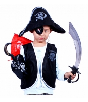 【即納】ハロウィン仮装 海賊・パイレーツ 子供コスチューム7点セット tk-hw0093-1-cs-gz【カラー:画像参照】【サイズ:フリー】