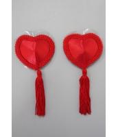 シールブラ ニップレス コスプレ コスチューム 赤 LivCo ファッション シールブラ-cc0538-3
