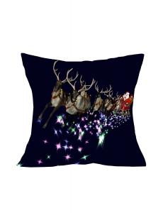 クリスマス フライングサンタクロース ネイビー クッション 枕カバー cc0602-5