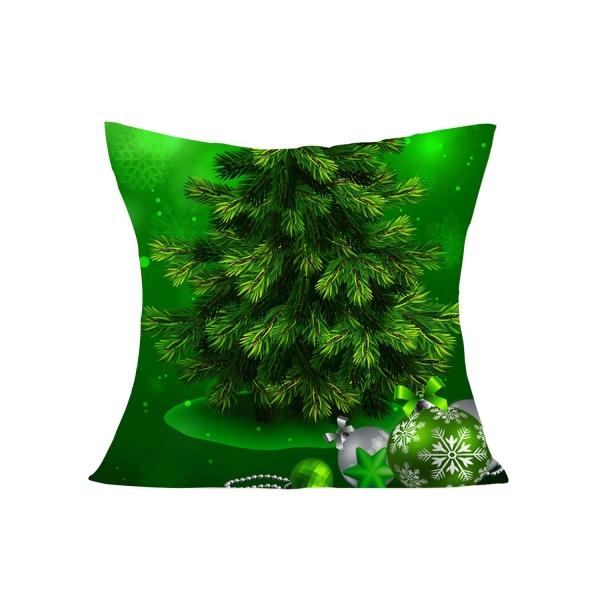 クリスマス パイン プリント オールグリーン 枕カバー cc0603-9