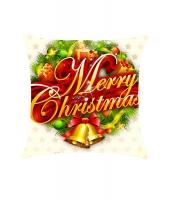 メリークリスマス 花輪 枕カバー cc0612-3