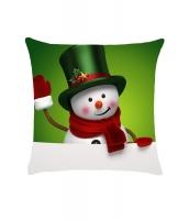 ウェルカム クリスマス デジタル 雪だるま プリント 枕カバー cc0614-9