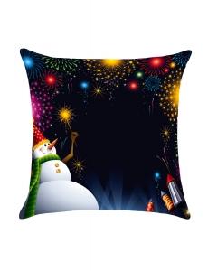 カラフル 花火 クリスマス 雪だるま 枕カバー cc0615-22