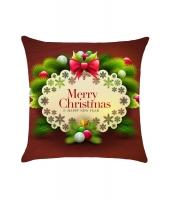 メリークリスマス & 新年おめでとう クッション 枕カバー cc0617-22
