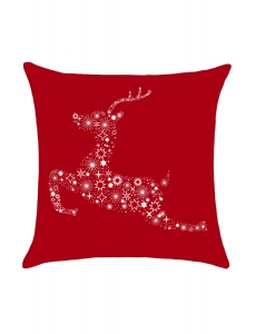 クリスマス 星空 トナカイ プリント 枕カバー cc0622-3