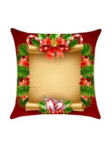 クリスマス スクロール プリント 枕カバー cc0624-3