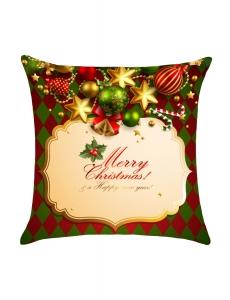 メリークリスマスカード プリント 枕カバー cc0628-9
