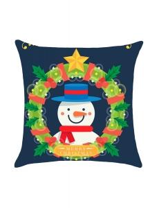 クリスマス 花輪 雪だるま 枕カバー cc0630-5
