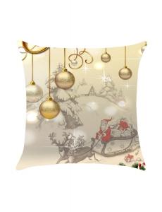 クリスマス ボール柄 リネン 枕カバー cc0634-7