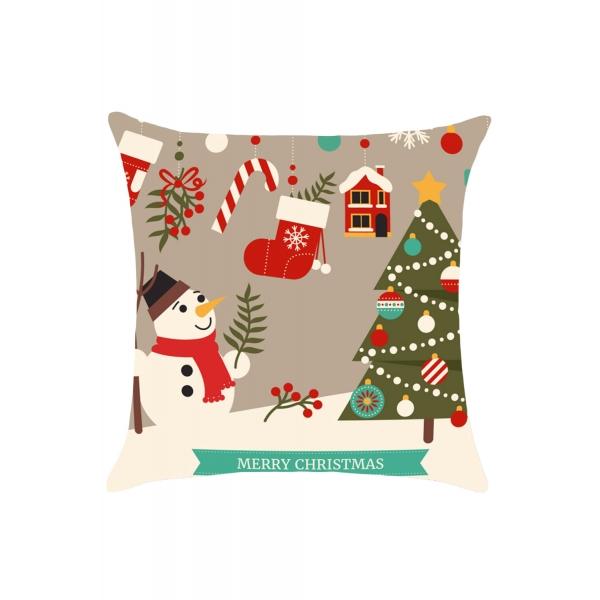 クリスマス 雪だるま 枕カバー cc0635-22