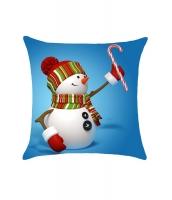 雪だるま プリント クリスマス 枕カバー cc0637-4