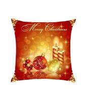 ボール&キャンドル メリークリスマス 枕カバー cc0643-3