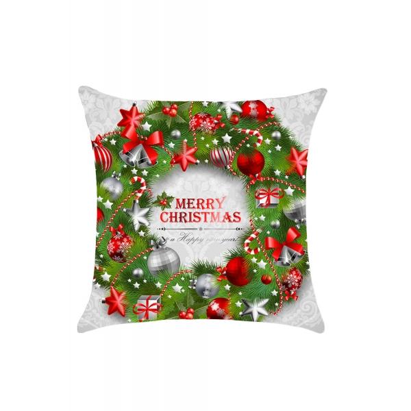 クリスマス 花輪 枕カバー cc0652-9