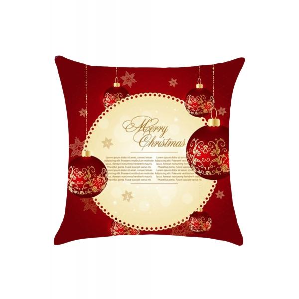 メリークリスマスカード プリント 枕カバー cc0665-3