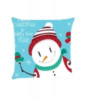 クリスマス 雪だるま グリーティング 枕カバー cc0670-4