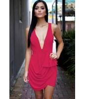 Vネックフロントドレープクラブドレス-cc21472