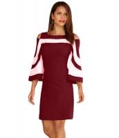 ブルゴーニュ ホワイト パチワーク ドレス cc220190-3