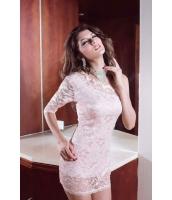 ミニワンピース ミニドレス セクシードレス パーティドレス ベージュ 片袖 オープンショルダー ミニドレス-cc2253-2