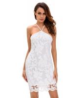 ホワイト レース 花柄 デラックス パーティー ドレス cc22646-1