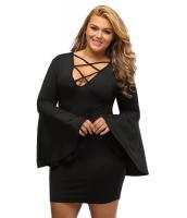 大きいサイズ ケージ フレア 袖 ドレス cc22844-2