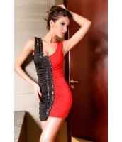 【即納】ミニワンピース ミニドレス セクシードレス パーティドレス 赤と黒クラシックミニドレス tk-cc2374-2-f-gz【カラー:画像】【サイズ:フリー】
