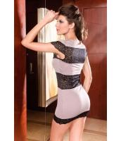 ミニワンピース ミニドレス セクシードレス パーティドレス レースファッションドレス-cc2375