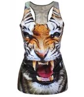 ハウリング タイガー デジタル プリント タンクトップ -cc25319