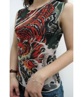 【即納】TK-cc27014☆SALE☆セクシー衣装 Tシャツ オリエンタル 神話 タトゥー タンクトップ【カラー:画像参照】【サイズ:フリー】